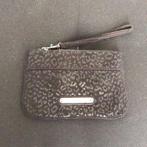 Express Bags - Black cheetah wristlet